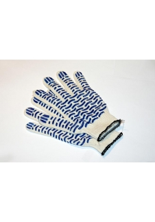 Перчатки х/б с ПВХ (Волна) 10 класс профи