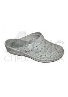 """Туфли """"Сабо"""" женские белые (натуральная кожа)"""