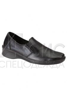Туфли женские черные без перфорации